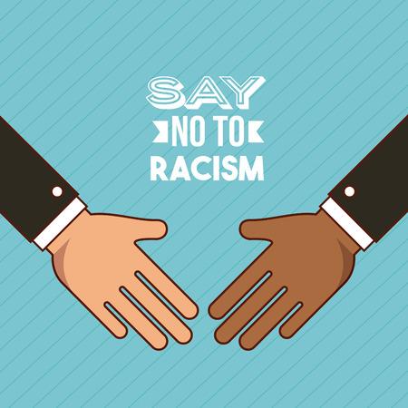 ノーと言う人種差別画像ベクトル イラスト デザインを停止するには  イラスト・ベクター素材