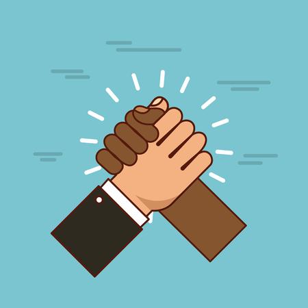 hands holding stop racism image vector illustration design
