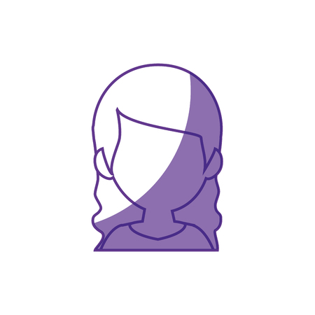 woman avatar icon over white background. vector illustration