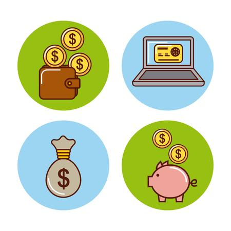 money or economy related image vector illustration design