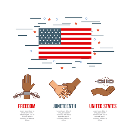 juneteenth 停止人種的優越感の画像ベクトル イラスト デザイン