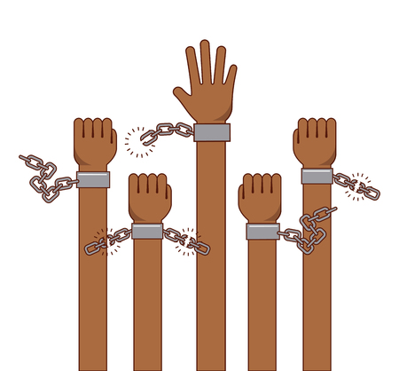 freedom stop racism image vector illustration design Ilustrace