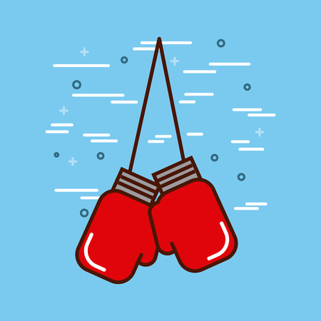 boxing sports or exercise imagevector illustration design