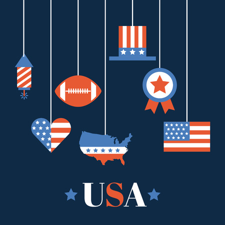 usa related assorted icons image vector illustration design