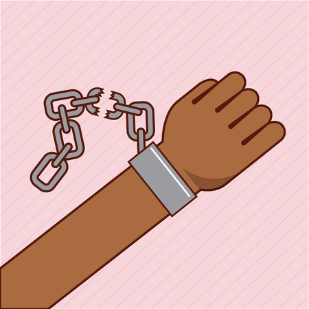 freedom stop racism image vector illustration design Illustration