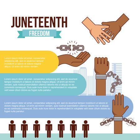 Jubiläums-Tag der Freiheit zu stoppen Rassismus Bild Vektor Illustration Design