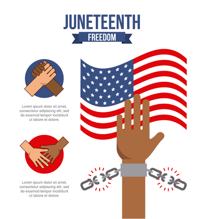 juneteenth freedom day  stop racism image vector illustration design Stock Vector - 77778000