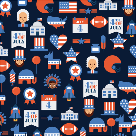 usa independence day related image vector illustration design