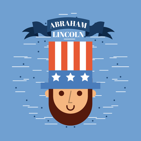 abraham lincoln usa related image vector illustration design Illustration