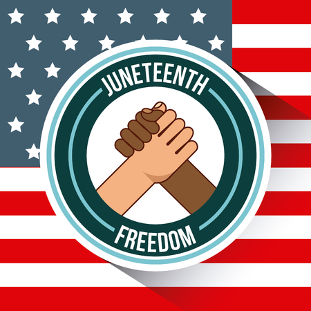 juneteenth freedom day  stop racism image vector illustration design