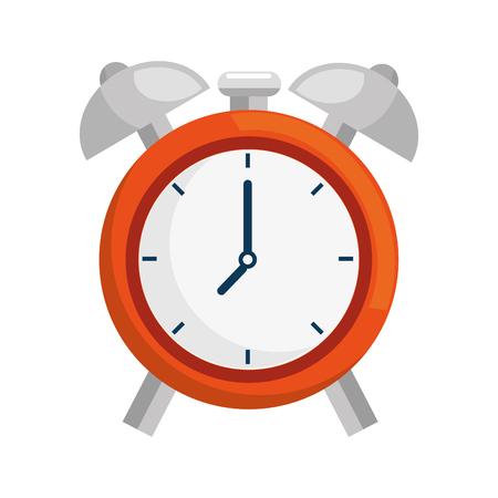 clock icon over white background. colorful design. vector illustration