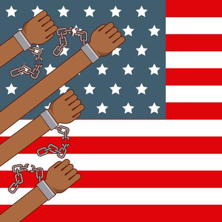 freedom stop racism image vector illustration design Stock Vector - 77778329