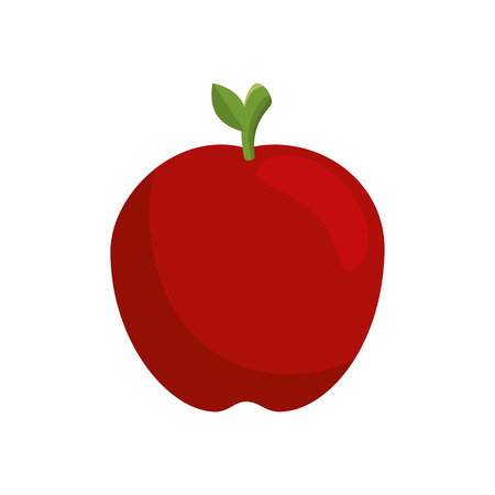 apple fruit icon over white background. colorful design. vector illustration