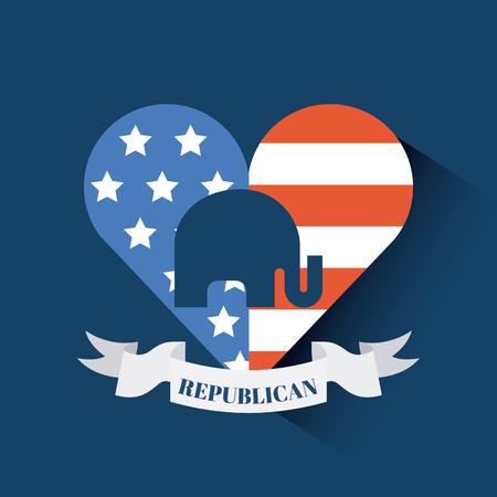 republican party emblem image vector illustration design