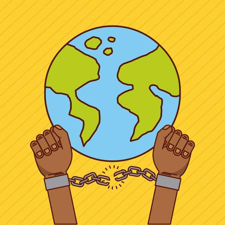 Libertad, parada, racismo, imagen, vector, Ilustración, diseño Foto de archivo - 77778493