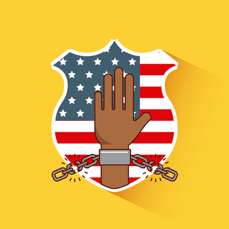 freedom stop racism image vector illustration design Stock Photo