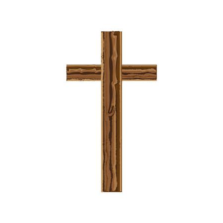 흰색 배경 위에 기독교 십자가 상징 아이콘입니다. 화려한 디자인. 벡터 일러스트 레이 션 스톡 콘텐츠