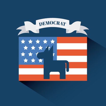democrat party emblem image vector illustration design