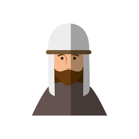 jesus christ man icon over white background. vector illustration