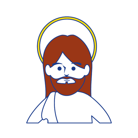 jesus christ man icon over white background. colorful design. vector illustration