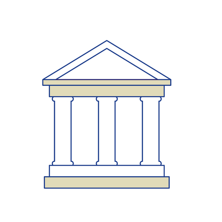 school symbol icon over white background. vector illustration