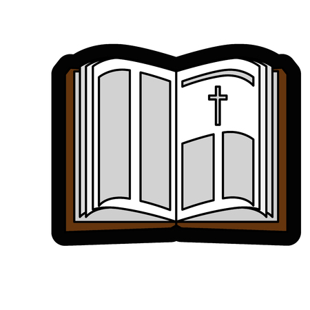 holy bible icon over white background. vector illustration