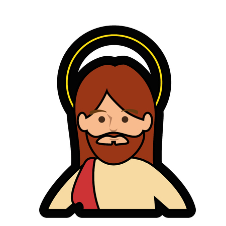 worshipping: jesus christ man icon over white background. colorful design. vector illustration