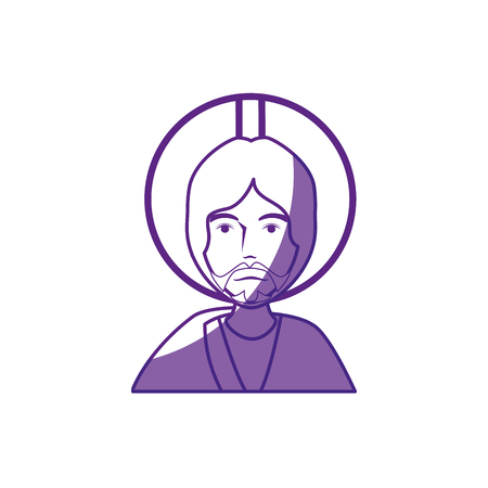 jesus christ icon over white background. vector illustration