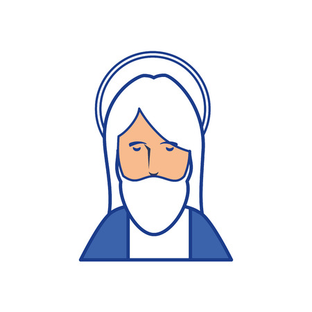 worshipping: jesus christ icon over white background. colorful design. vector illustration