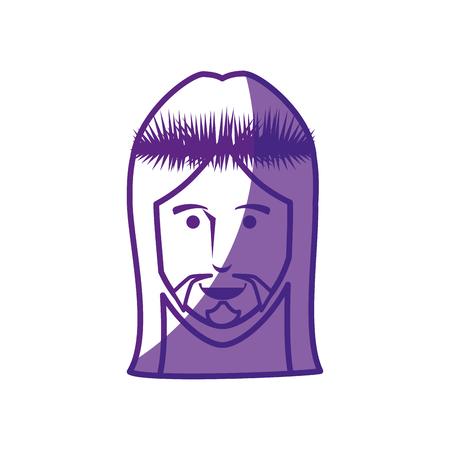 worshipping: jesus christ icon over white background. vector illustration