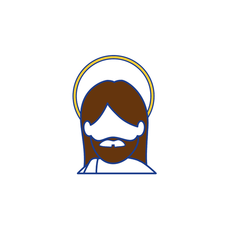 jesus christ icon over white background. colorful design. vector illustration