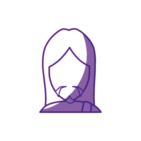 jesus praying: jesus christ icon over white background. vector illustration