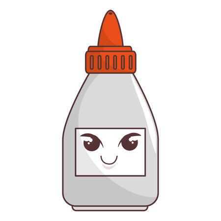 glue bottle comic character vector illustration design