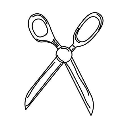 scissors sewing isolated icon vector illustration design Illustration