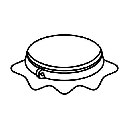 Embroidery drum geïsoleerd pictogram vector illustratie ontwerp