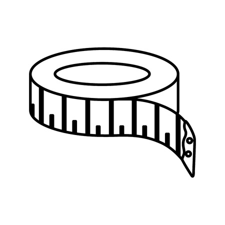 tape sewing measure icon vector illustration design