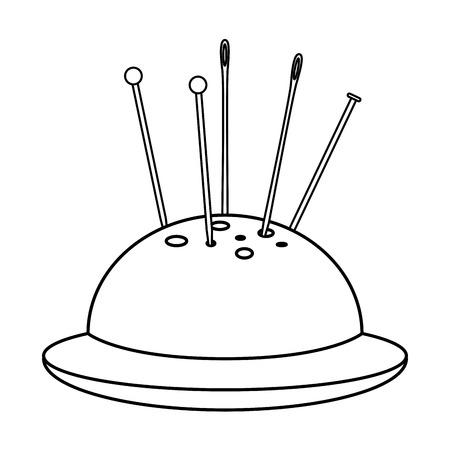 kit de costura: costura Pincushion icono aislado diseño de ilustración vectorial