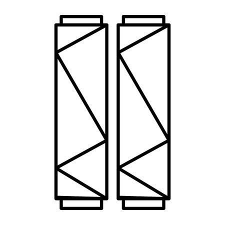 Sewing thread roll icon vector illustration design