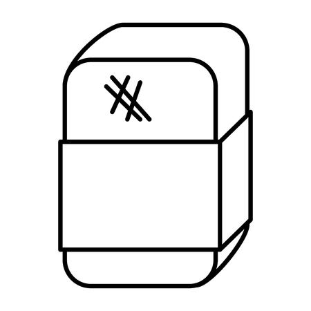 eraser school isolated icon vector illustration design Illustration