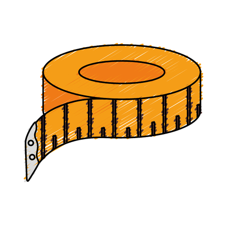 millimeters: tape sewing measure icon vector illustration design