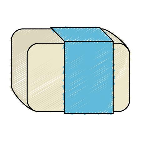 eraser school isolated icon vector illustration design Stock Photo