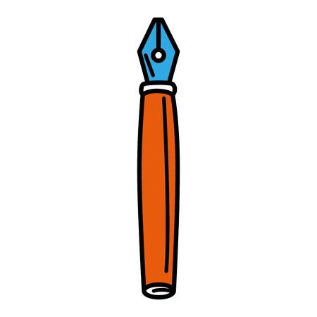 feather pen isolated icon vector illustration design Ilustração