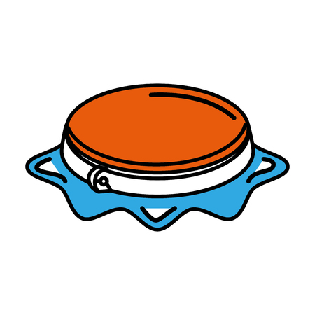 Embroidery drum isolated icon vector illustration design