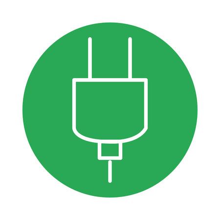 플러그 에너지 아이콘 벡터 일러스트 디자인 절연