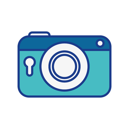 movie film: Vintage photographic camera icon vector illustration graphic design