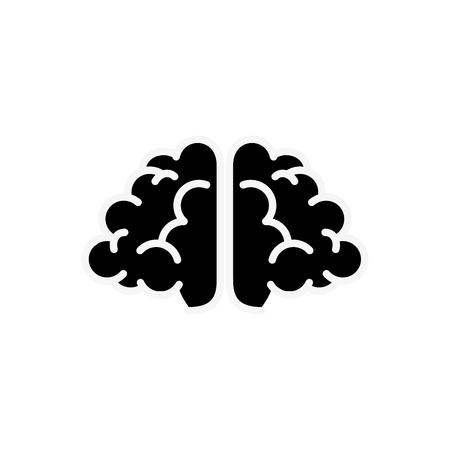Human brain symbol icon vector illustration graphic design Stock Vector - 77816741