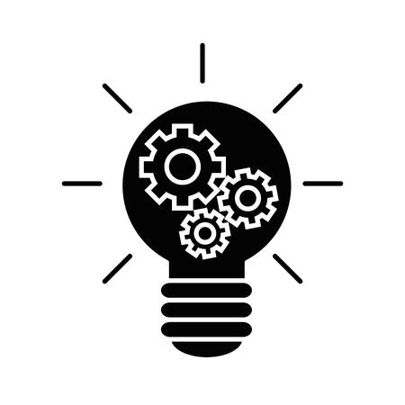 Big idea bulb symbol icon vector illustration graphic design Иллюстрация