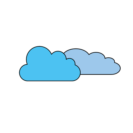 Weather clouds symbol icon vector illustration graphic design