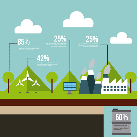 energy sources infographic eco friendly related image vector illustration design