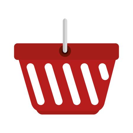 basket shopping isolated icon vector illustration design